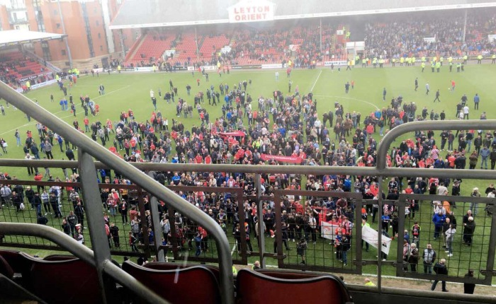 It all kicked off at the Leyton Orient game ⚽️